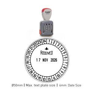Trodat 2910_U24 Classic Stamps ø 50mm Date Size 4mm