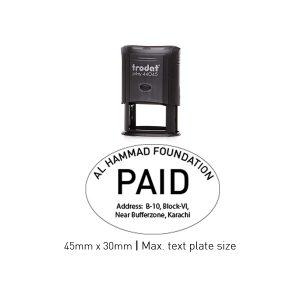 Trodat 44045 Self Inking Stamps 45mm x 30mm - Black