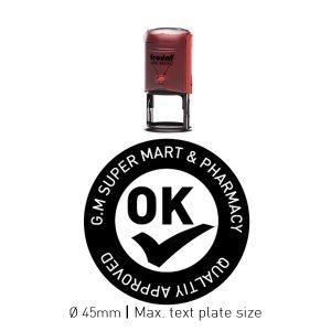 Trodat round self inking stamp 46045-Red
