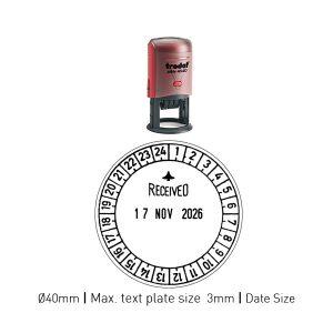 Trodat 46140_U24 Self Inking Printy ø 50mm Date Size 4mm