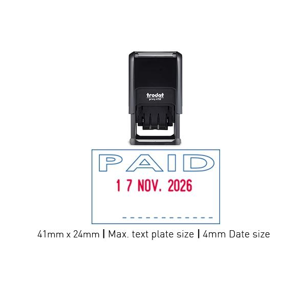 Trodat 4750 L2 Self Inking Stamps 41mm x 24mm