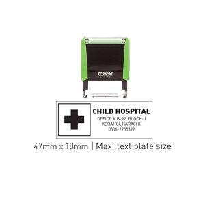 Trodat 4912 Self Inking Stamps 47mm x 18mm - Apple Green