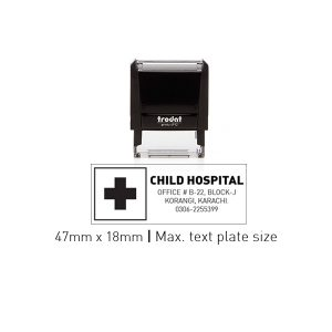 Trodat 4912 Self Inking Stamps 47mm x 18mm - Black