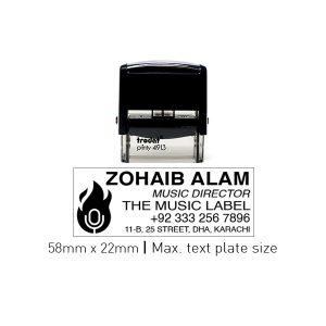 Trodat 4913_P2F Self Inking Stamps 58mm x 22mm - Black