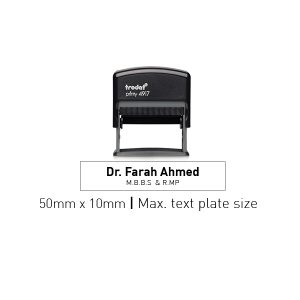 Trodat 4917 Self Inking Stamps 50mm x 10mm - Black