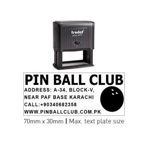 Trodat 4931 Self Inking Stamps 70mm x 30mm - Black